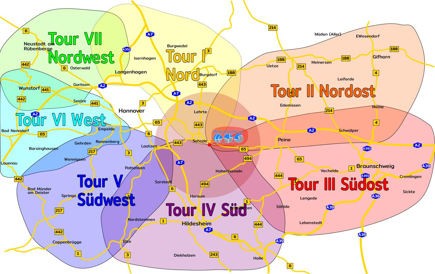 Karte des Einzugsgebietes